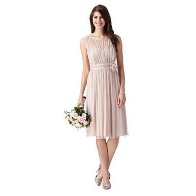 Debut Rose pink corsage detail dress