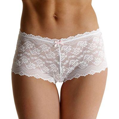 Debenhams White all over lace shorts