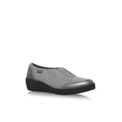 Anne Klein Grey 'Yarmilla' flat slip on sneakers