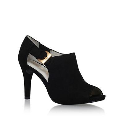 Anne Klein Black 'Olita' mid heel shoe boots