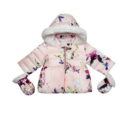 21823a5d2aed6 Baker by Ted Baker Baby girls  pink bird print coat