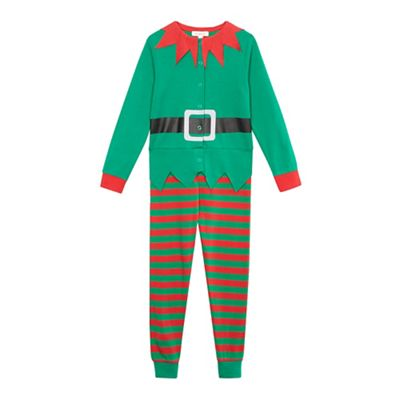 cd018c930f40 bluezoo Boys  green elf suit all-in-one