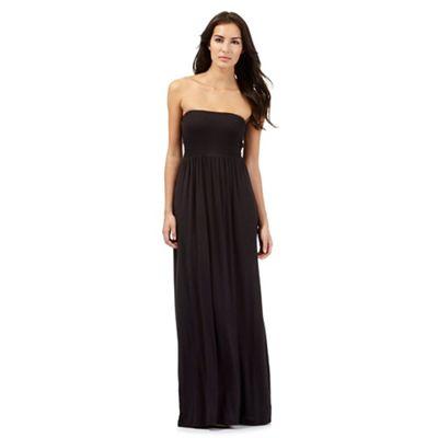 Beach Collection Black bandeau maxi dress