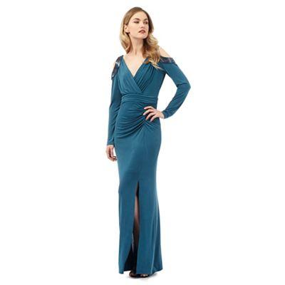 Ariella London Turquoise 'Yoko' maxi dress