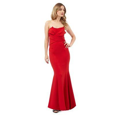 Ariella London Bright red 'Katinka' maxi dress