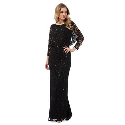 Ariella London Black 'Marble' maxi dress