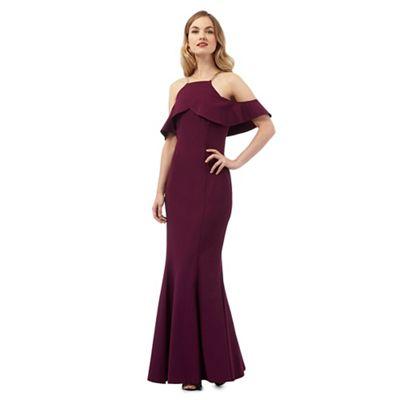 Ariella London Dark purple 'Rita' maxi dress