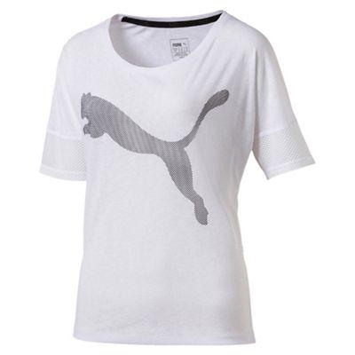 Puma Women's White pink Loose t-shirt
