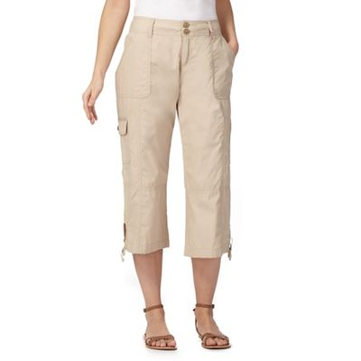 8d131837098 Mantaray Natural cropped trousers