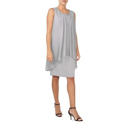 Jacques Vert Emblished Neck Layers Dress