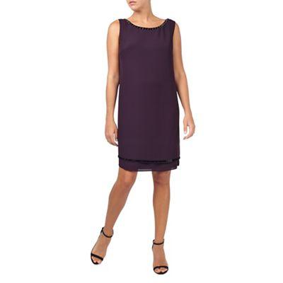 Jacques Vert Embellished Neck Dress