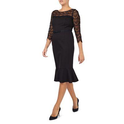 Jacques Vert Black Lace Detail Dress