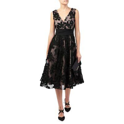 Jacques Vert Floral Applique Prom Dress