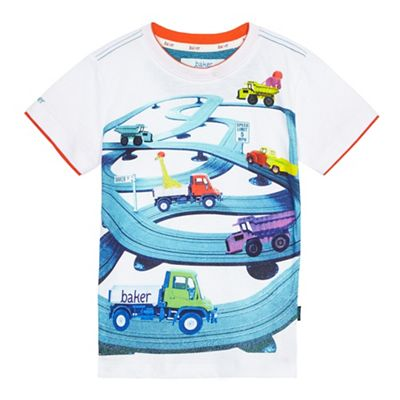 8d5205f9e29e Baker by Ted Baker Boys  multi-coloured truck scene print t-shirt