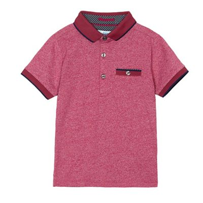 f4c0a9d86a6346 Baker by Ted Baker Boys  dark red marl polo top