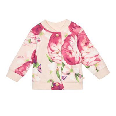 619535ab5 Baker by Ted Baker Baby girls  light pink reversible bomber jacket