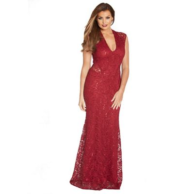 Jessica Wright for Sistaglam Berry 'Becky' sequin maxi dress