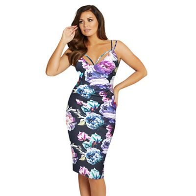 Jessica Wright for Sistaglam Floral 'Emelli' bodycon dress