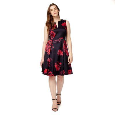 Studio 8 Sizes 12-26 Black and Red rosetta dress