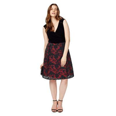 Studio 8 Sizes 12-26 Black and Red josephine dress