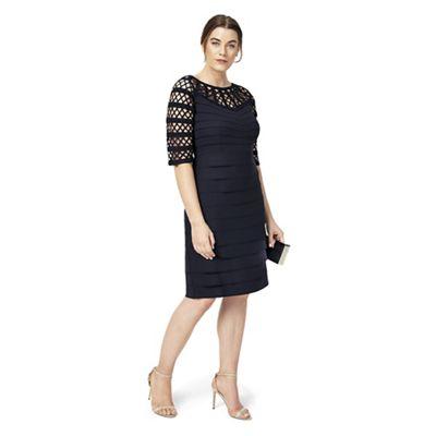 Studio 8 Sizes 12-26 Navy sienna dress