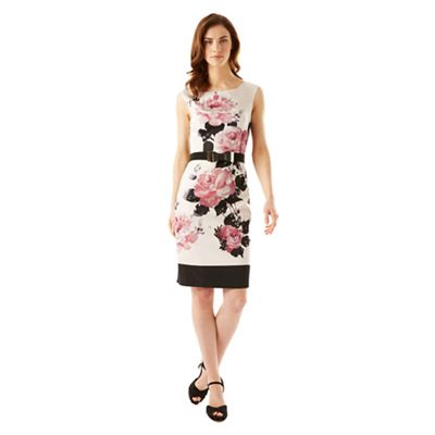 Phase Eight Ivory And Pink Carrera Rose Dress