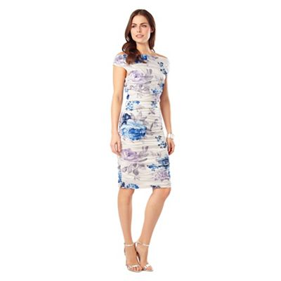 Phase Eight White And Blue Cindy Crush Dress