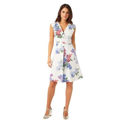 Phase Eight Multi-Coloured Lilac Flower Dress