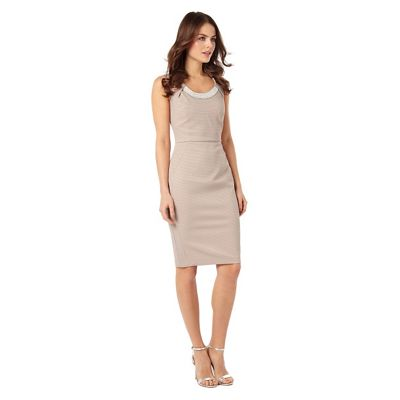 Phase Eight Cosmetic Nude Belle Pearl Trim Dress