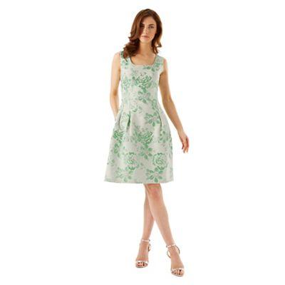 Phase Eight Mint Audrina Jacquard Dress