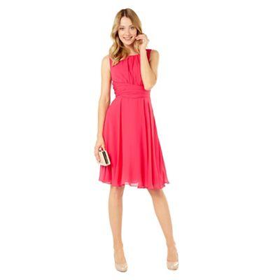 Phase Eight Magenta Marti Chiffon Dress