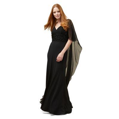 Phase Eight Black Vera Cape Full Length Dress