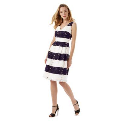Phase Eight Navy And White Bea Stripe Dress