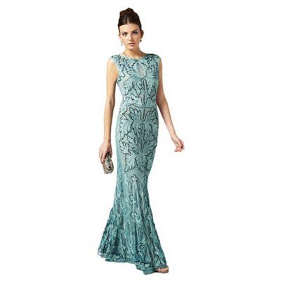 Phase Eight Sky Paige Tapework Full Length Dress