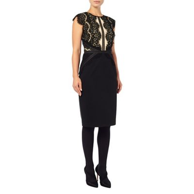 Phase Eight Black Ivana Midi Dress