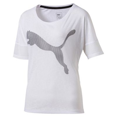 Puma Women's White loose t-shirt