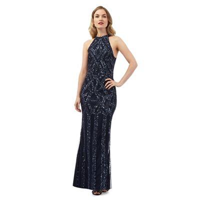 Ariella London Navy 'Rolo' maxi dress