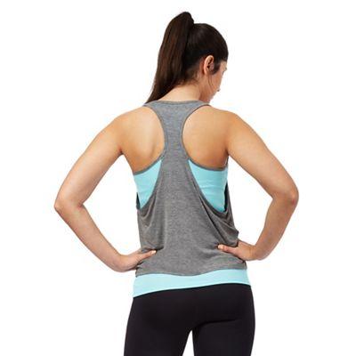 Aqua blue double layer vest