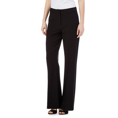 203a4895722a8 Black bootcut formal trousers