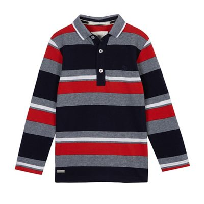 Baker by Ted Baker Boys' blue striped polo shirt