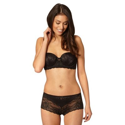 B by Ted Baker Black floral lace balcony bra