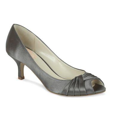 'Romantic' pleated peep toe shoe