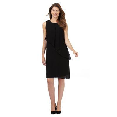 Black embellished neck dress