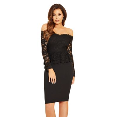 Bardot 'Phoenix' lace peplum bodycon dress