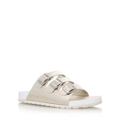13438cef2 Women. Silver  Kiss  flat sandals