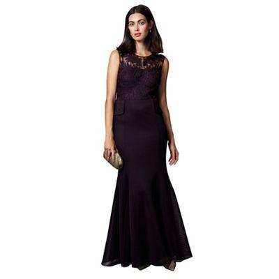 Arianna Peplum Fishtail Dress