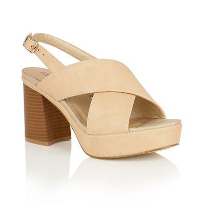 Beige 'Vivian' block heel sandals