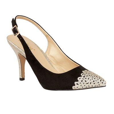Black 'Arlind' glitz heels