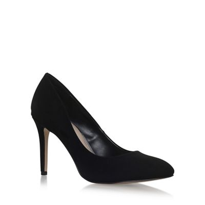 Black 'AIMEE' high heel court shoes