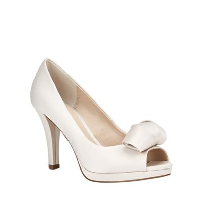 Abi Satin Peep Toe SHoe
